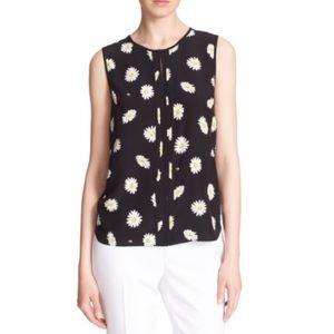 Kate Spade daisy dot print silk blend top L